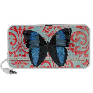 Boho Blue Butterfly Music Doodle Speaker