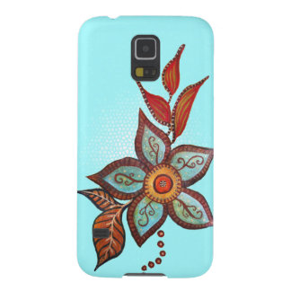 Boho Blue Galaxy S5 Cases