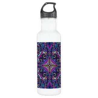 Boho blue kaleidoscope native american trend 710 ml water bottle