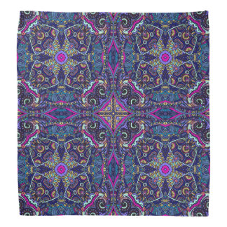 Boho blue kaleidoscope native american trend bandana
