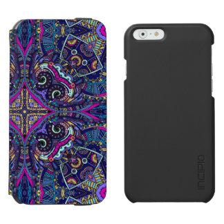 Boho blue kaleidoscope native american trend incipio watson™ iPhone 6 wallet case