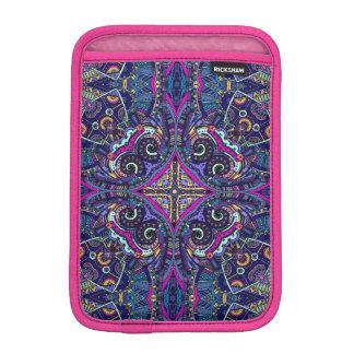 Boho blue kaleidoscope native american trend iPad mini sleeve