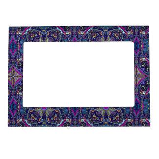 Boho blue kaleidoscope native american trend magnetic frame