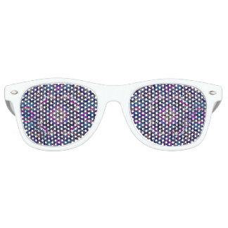 Boho blue kaleidoscope native american trend retro sunglasses