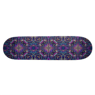 Boho blue kaleidoscope native american trend skate board deck