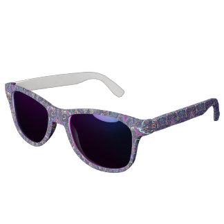 Boho blue kaleidoscope native american trend sunglasses