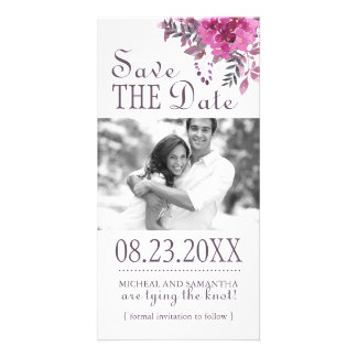 Boho Botanical Save the Date Photo Cards