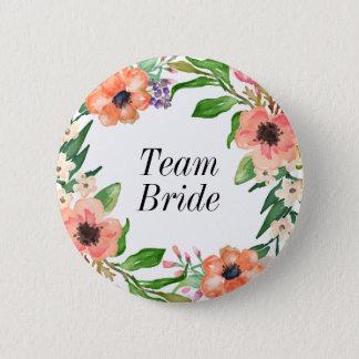 Boho Bridal Party Wedding 6 Cm Round Badge
