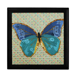 Boho Butterfly Art Box Large Square Gift Box