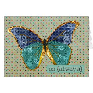 Boho Butterfly Love  Valentine Cards
