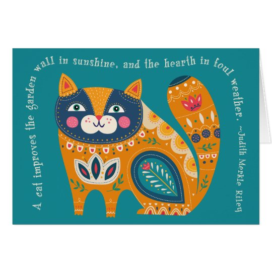 Boho Cat Card with Quote