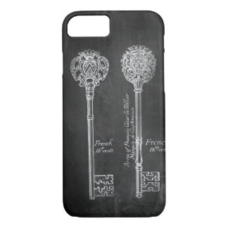 boho Chalkboard Victorian steampunk skeleton keys iPhone 7 Case