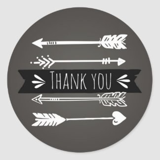 Boho Chic Arrows | Thank You Sticker