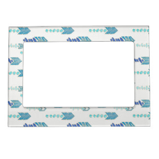 boho chic blue arrows native pattern magnetic frame
