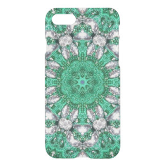 boho chic bohemian pattern emerald green iPhone 8/7 case