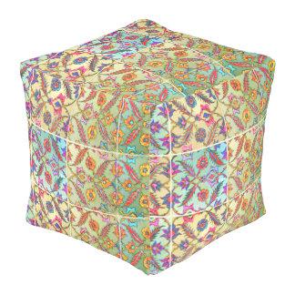 Boho Chic Colorful Pouf! Kaleidoscope Bohemian Pouf