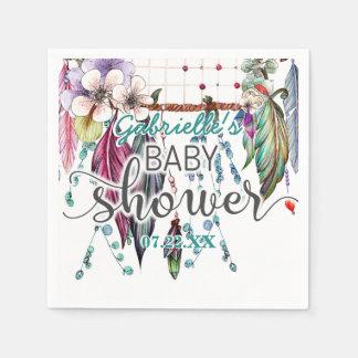 Boho Chic Dreamcatcher Girl Baby Shower Cute Disposable Serviettes