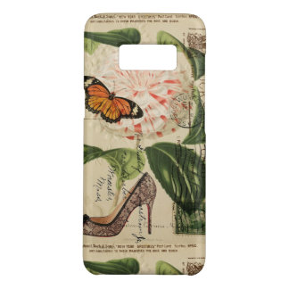 boho chic flowers butterfly french botanical Case-Mate samsung galaxy s8 case