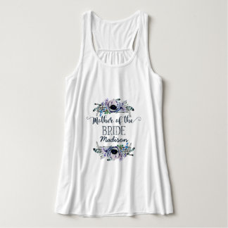 Boho Chic Mint & Navy Floral Mother of the Bride Singlet