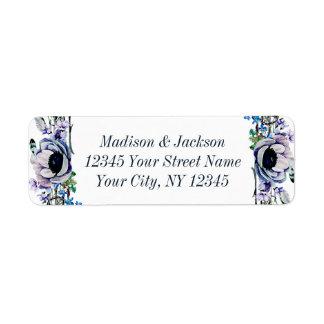 Boho Chic Mint & Navy Wedding Return Address Return Address Label