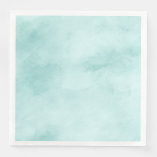 Boho Chic Mint Watercolor Texture Wedding Disposable Napkin