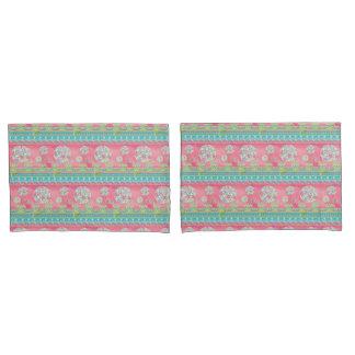 BOHO Chic Modern Floral Dandelion Paisley Striped Pillowcase
