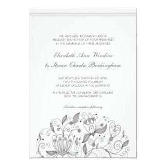 BOHO Chic Monochromatic  Taupe Garden Wedding 13 Cm X 18 Cm Invitation Card