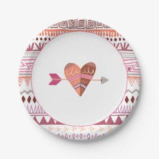 Boho Chic Paper Plate