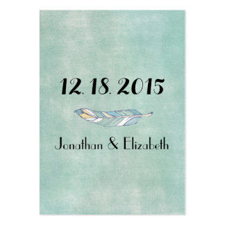Boho Chic Save the Date Reminders Large Business Cards (Pack Of 100)