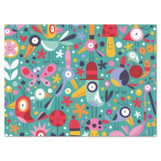 Boho Colorful Fun Bird Pattern Tissue Paper