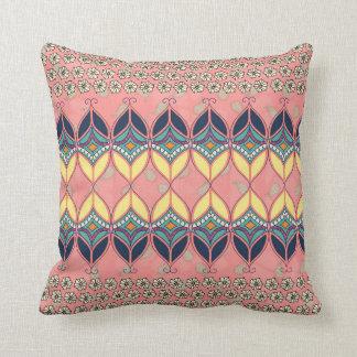 Boho Daisy Designer Throw Pillow