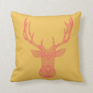Boho Deer Head Pillow