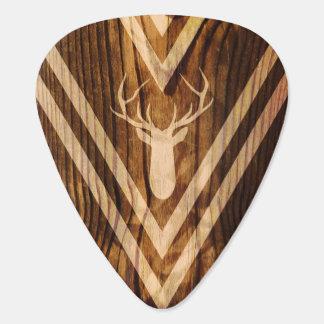 Boho deer on rustic wood pick