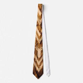 Boho deer on rustic wood tie