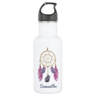 Boho Dream Catcher with Custom Monogram 532 Ml Water Bottle