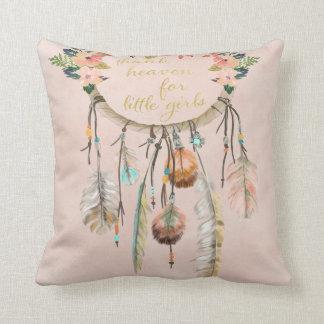Boho Dreamcatcher Thank Heaven Little Girls Pillow