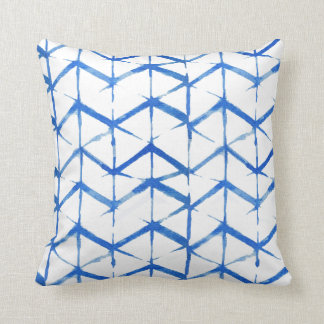 Boho Eclectic Blue Tie Dye Pillow