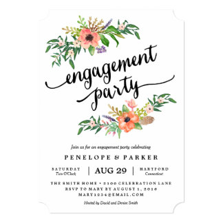Engagement Invitations Card as awesome invitation example