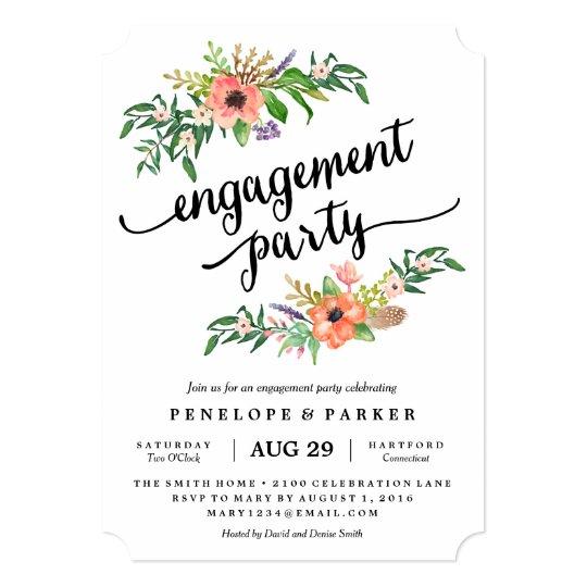 Boho Engagement Party Invitation Zazzle