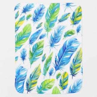 Boho Feather Baby Blanket