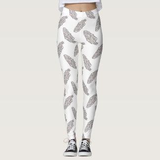 boho feather boho pattern all over printed legging