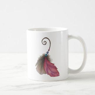 Boho feather mug