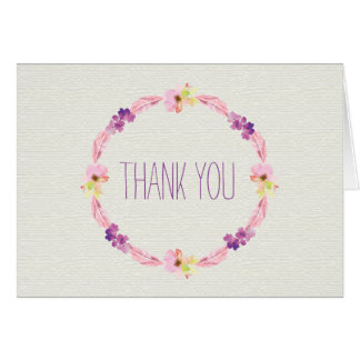 Boho, Feathers and Flowers Thank You Cards