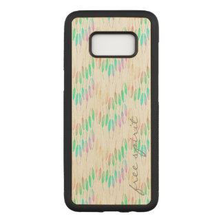Boho Feathers Bohemian Multicolor Long Tail Bird Carved Samsung Galaxy S8 Case