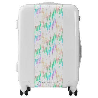 Boho Feathers Bohemian Multicolor Long Tail Bird Luggage