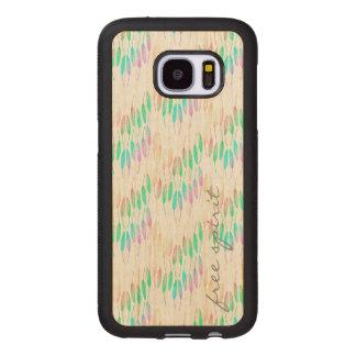 Boho Feathers Bohemian Multicolor Long Tail Bird Wood Samsung Galaxy S7 Case
