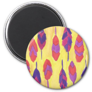 Boho Feathers Magnet