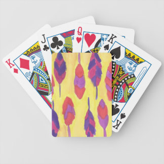 Boho Feathers Poker Deck