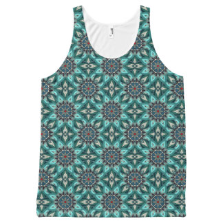 Boho feathers symbols design All-Over print singlet
