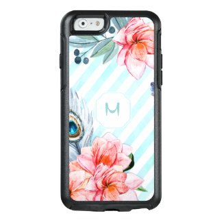 Boho Feathers Watercolor Stripe Floral OtterBox iPhone 6/6s Case
